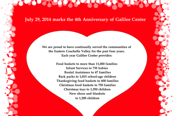 Galilee Center's 4th Anniversary