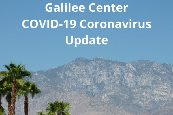 A message from the Galilee Center regarding COVID-19