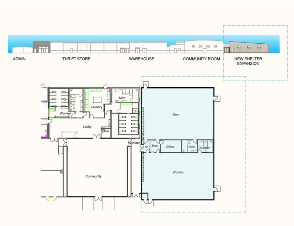 galilee shelter expansion rendering